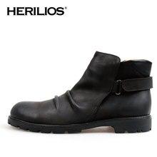 2016 Winter Luxury Herilios Men's Slip-on Leather Ankle Boots