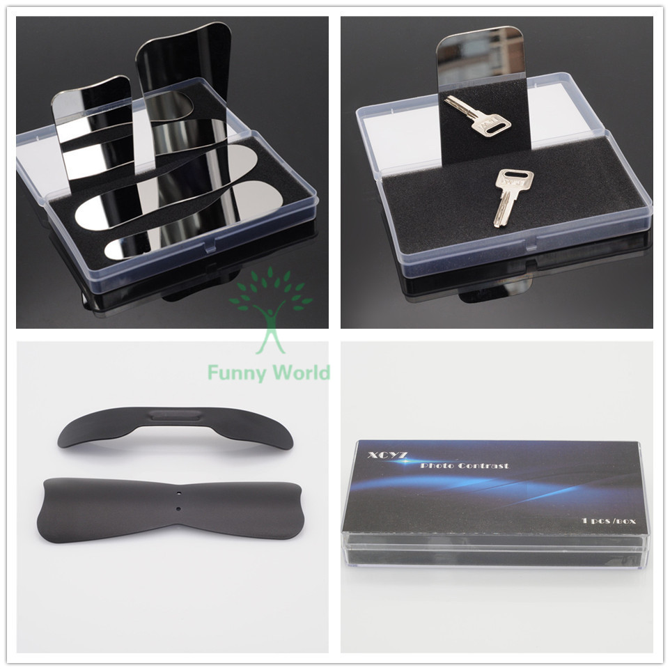 купить New Dental 4Pcs Stainless Steel Mirror with Oral Photographic Black Background Board (S+L) дешево
