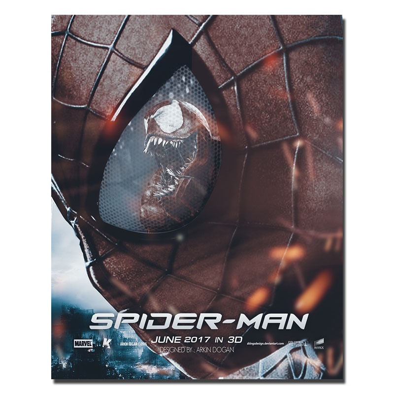2017 SPIDERMAN HOMECOMING Tom Holland Superhero Movie Art Silk Poster 30x24 inches -3