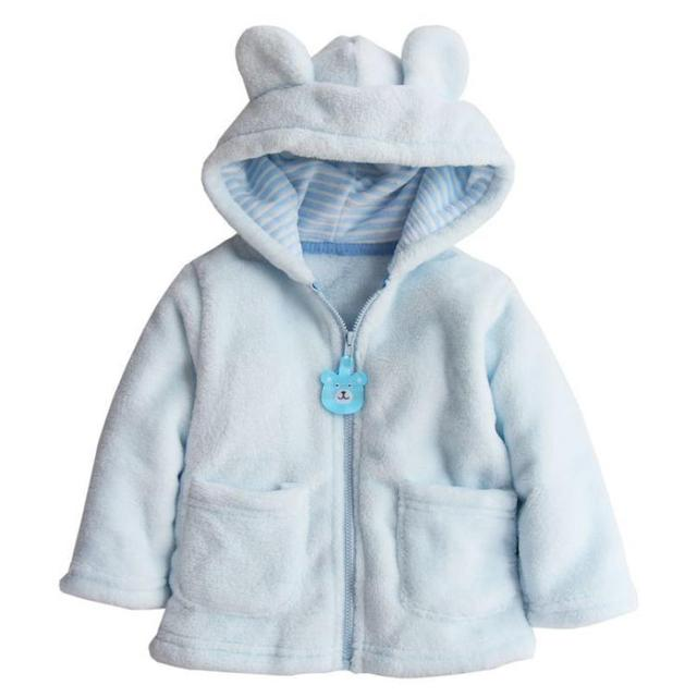 Baby Boy Girl Hoodies Coat Thick Tops Children Outerwear Infant hooded jacket Baby girls boys clothes