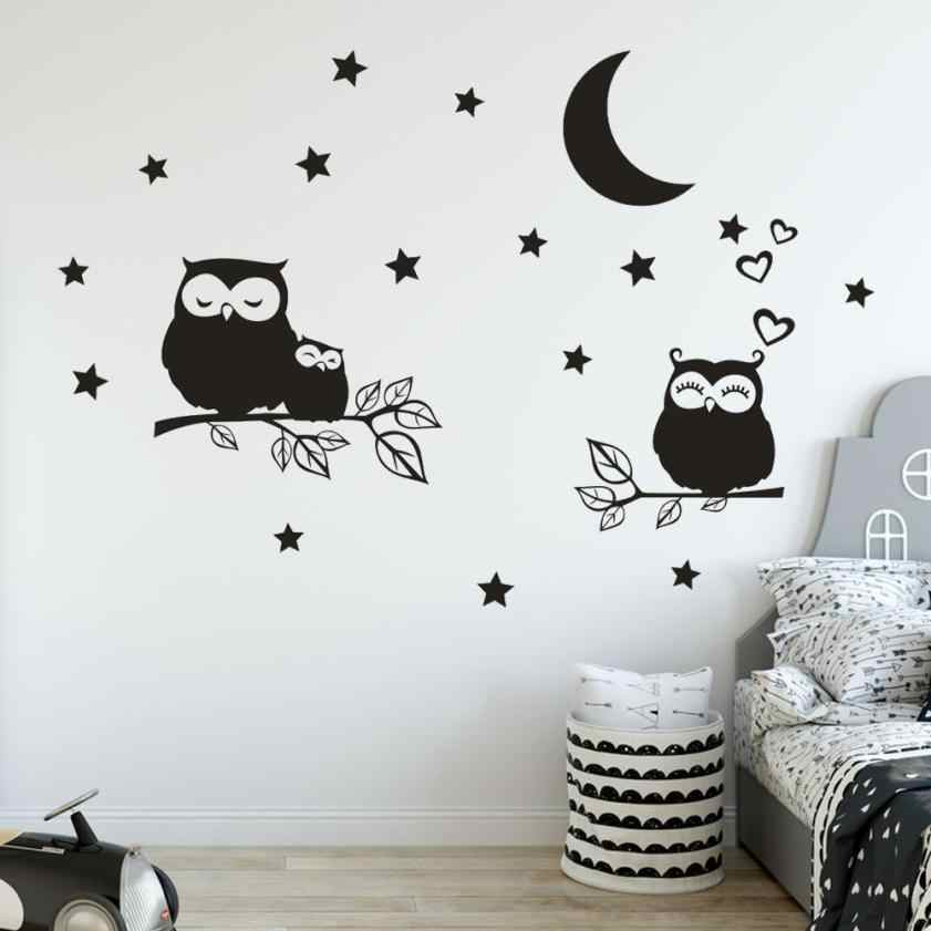 3D Star Moon Owl Removable Switch Sticker Room Living Room Wall Stickers Art Decorative Lights wall stickers for living room 803