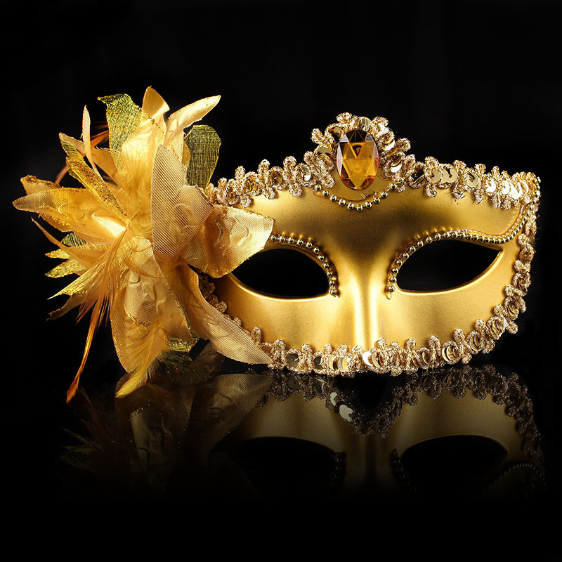 US $1.67 30% OFF|New Sexy Diamond Venetian Mask Venice Feather Flower  Wedding Carnival Party Performance Purple Costume Sex Lady Mask  Masquerade-in ...