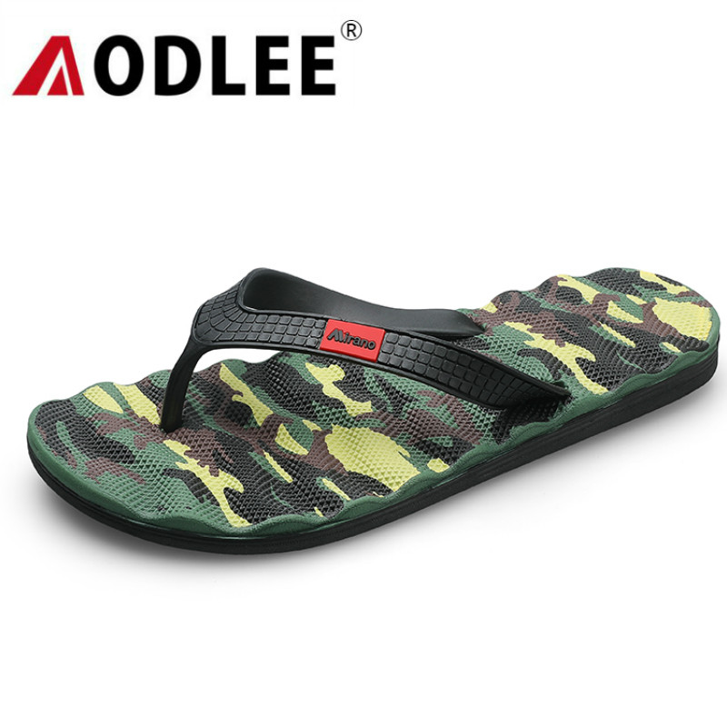 AODLEE Camouflage Men Slippers Message Size40-45 Fashion Summer Men Flip-flops Outdoor Casual Soft Shoes Men Beach Sandals Shoes