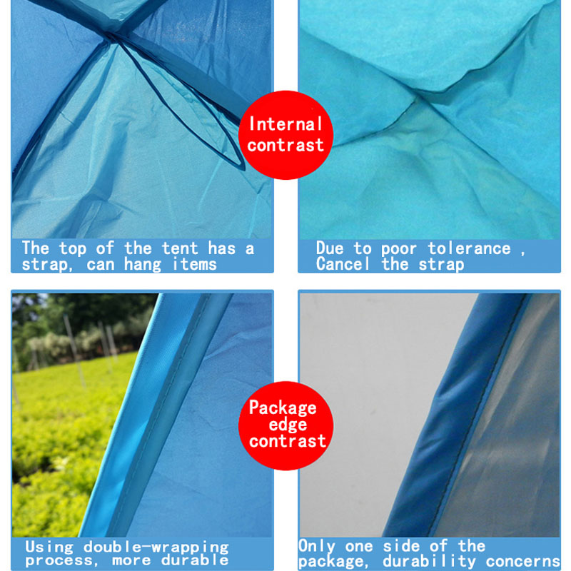 2 3 People Beach Tent Ultralight Folding Tent Pop Up Automatic Open Tent Family Tourist Fish Camping Anti UV Fully Sun Shade in Tents from Sports Entertainment
