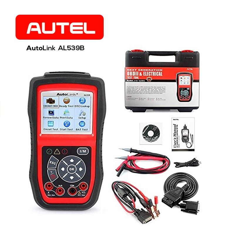 Autel Autolink AL539B Professional OBD2 Car Diagnostic Scanner Tool Auto Scanner Tools ECU Tester Code Reader Universal xtool ps100 obd2 car code reader trouble code reader