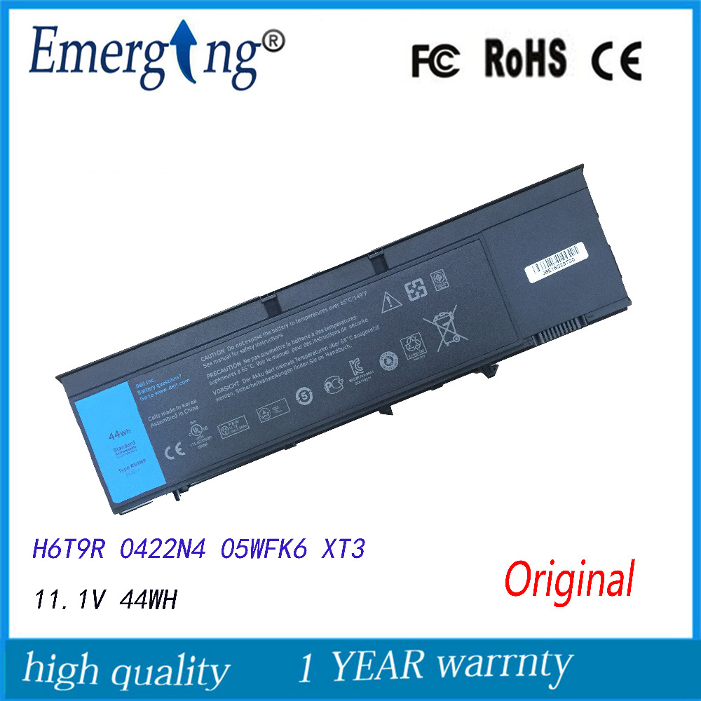 11.1V 44WH Original New Tablet Laptop Battery for Dell Latitude XT3 Tablet PC RV8MP H6T9R 1NP0F 37HGH