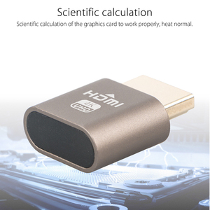 Image 4 - محول عرض المحاكي ملحقات الكمبيوتر كتلة لوحة VGA الظاهري 1920x1080 4K الدمية التوصيل مقطوعة الرأس موصل قفل HDMI
