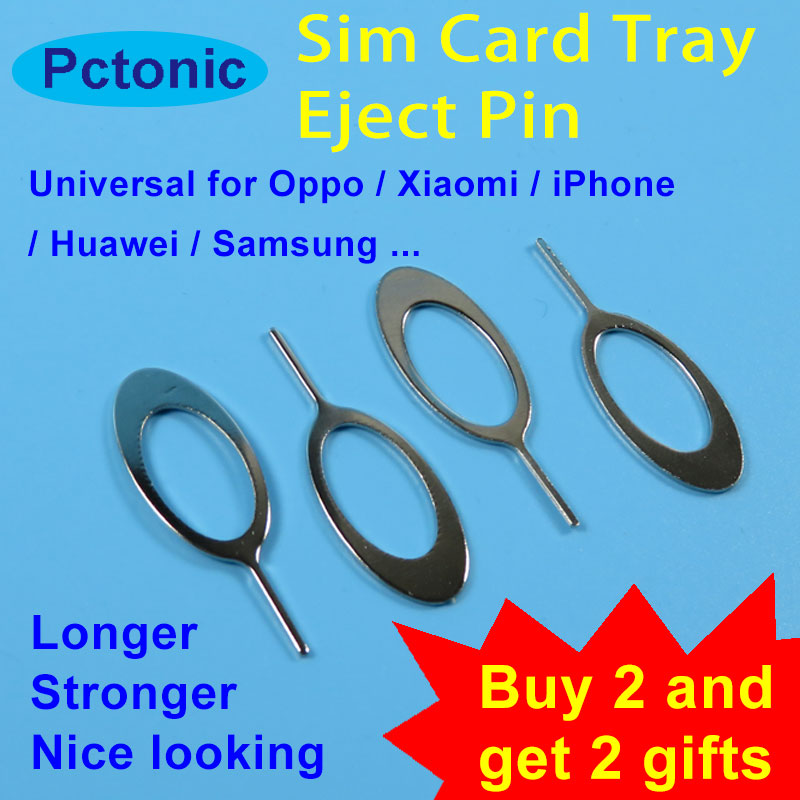 PCTONIC Universal Sim Card Tray Eject needle Tool Pin long small slim strong ejector pin for Oppo smart mobile phone iphone