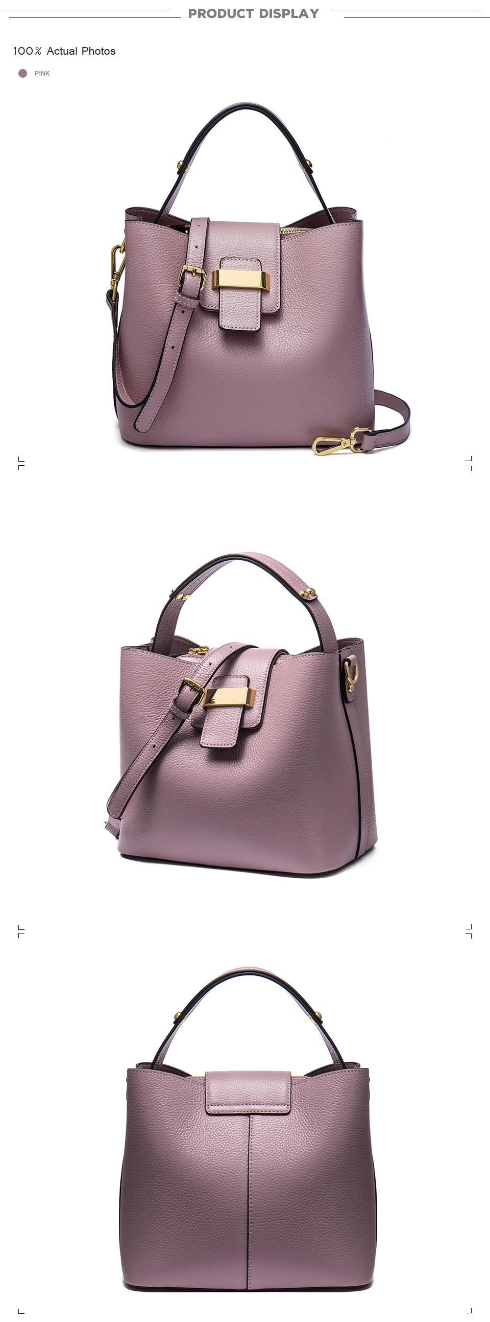 0fcc5570e156 NAWO 2017 Designer Women Leather Handbags Bucket Shoulder Bags ...