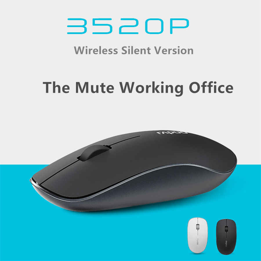085fb3f0a8c ... Original Rapoo Office Silent Wireless Optical Mouse Click Noiseless  Slim Mice 1000 DPI for Mac PC