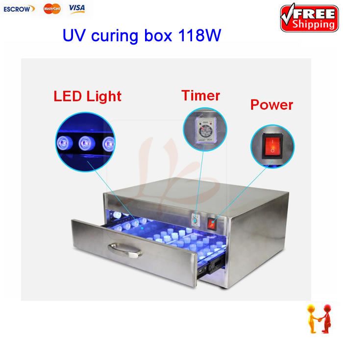 118W UV curing box oven machine LED curing oven glue dryer lamp with 84 LED lights 946d screen separator with accessories uv glue uv lamp moulds etc glue remove machine