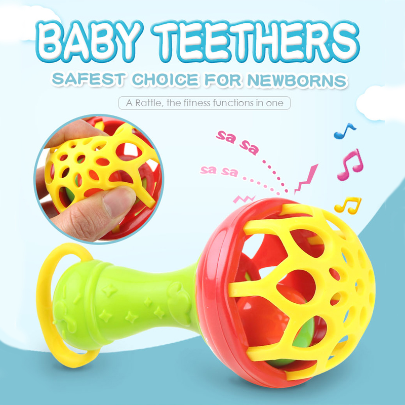 Baby Rattles Toys Teether Music Jingle Hand Shake Bell Rattles Grasping Toys Gift Educational Toys For Newborn Baby 0-12 Months#
