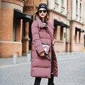 2016 Nueva Colección de Invierno de Las Mujeres Chaqueta Abajo Capa Caliente de Alta Calidad de la Mujer de Down Parka Mujer Engrosamiento Grande Más Tamaño Ropa de Abrigo