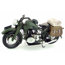 Free Shipping Handmade Antique Black 1923 R32 Classic Metal MotorCycle Model
