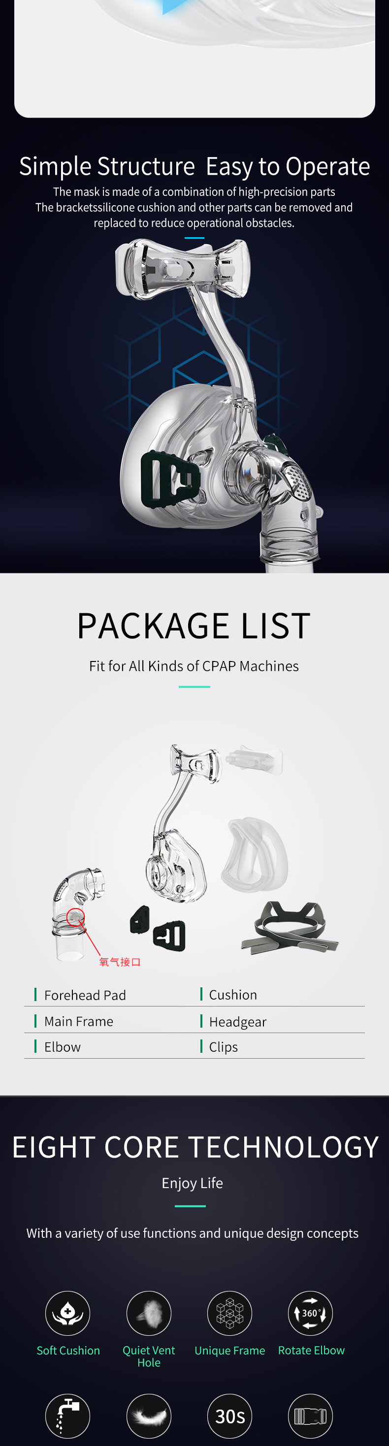 Nasal Mask CPAP Nasal Mask For all Brands CPAP Auto CPAP BiPAP S M L Sizes Available Suitable For Oxygenerator (2)