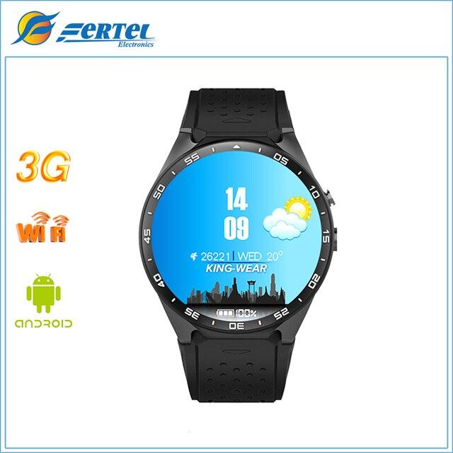 KW88 Смарт Смотреть Android 5.1 512 МБ + 4 ГБ bluetooth 4.0 WI-FI 3 Г Наручные Поддержка Google Voice GPS Карта переносной смарт часы