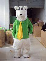 Hot sale Polar Bear Mascot Costume Polar bear Mascot costume Cute Cartoon Character Mascotte Costum Cosplay Outfits Adult Size