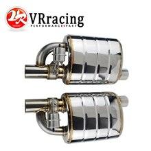 """ステンレス鋼 2.5 """"または 3"""" 傾斜出口インレットヒント溶接単一の排気マフラー異なる音/ダンプバルブ排気カット"""
