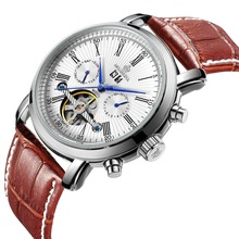 男性の有名なメンズ腕時計トップブランドの高級日/週トゥールビヨン自動機械式時計腕時計ギフトボックス MG ORKINA 2019