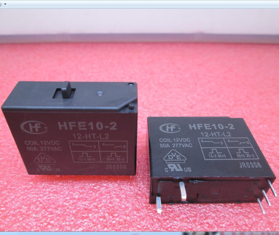 NEW High power 12V relay Magnetic holding relay HFE10-2 12-HT-L2 12VDC HFE10-2-12-HT-L2 12vdc 50A 277V 12V DC12V 50A 277VAC 5PIN реле omron 2 h1 dc12v gen dpdt 1a 12v h1 12vdc 8pin 10pcs lot g5v 2 h1 12vdc