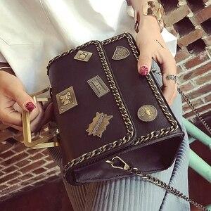 Image 2 - حقيبة بطراز عتيق للنساء حقيبة كتف للنساء حقيبة ساع حقيبة يد مصمم Bolsas Feminina