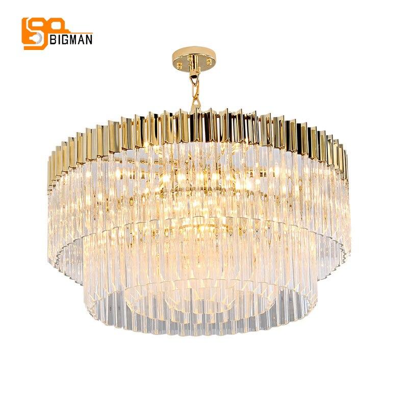 Nuovo design di lusso lampadario di cristallo moderno oro kroonluchter AC110V 220 v lustro sala da pranzo foyer luci