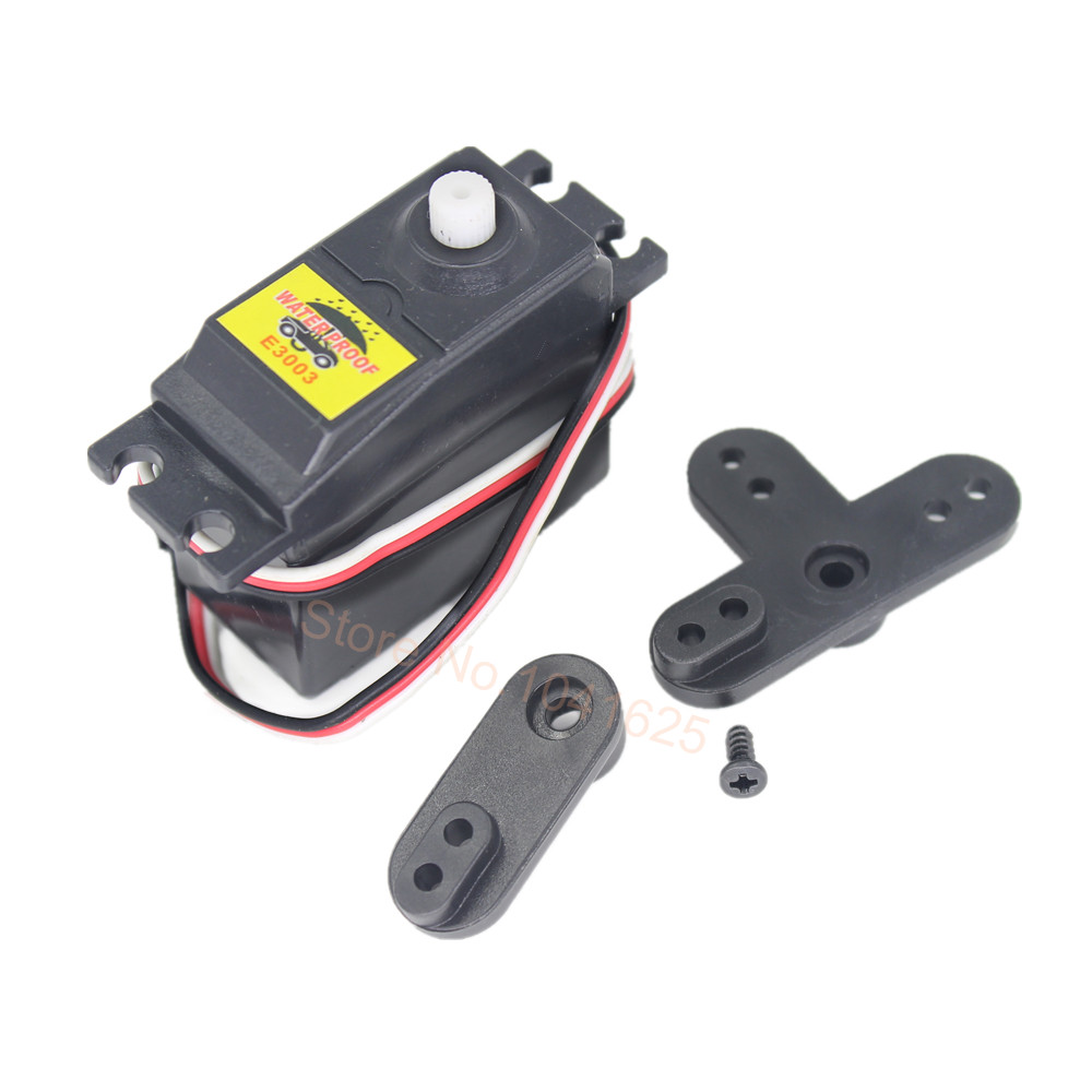 10Set/Lot HSP 02073 Steering Standard Servo Motor 3Kg Torque 106 oz With Horn Arms E3003 For 1/10 Scale RC Model Car