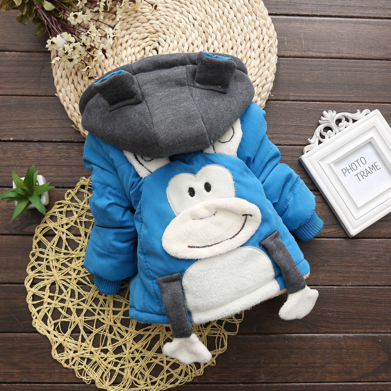 2017 New Arrival Autumn Winter Thicken Children Outerwear Warm Coat Sport Kids Clothes Cotton Baby Boys Jackets For 1-4T Toddler