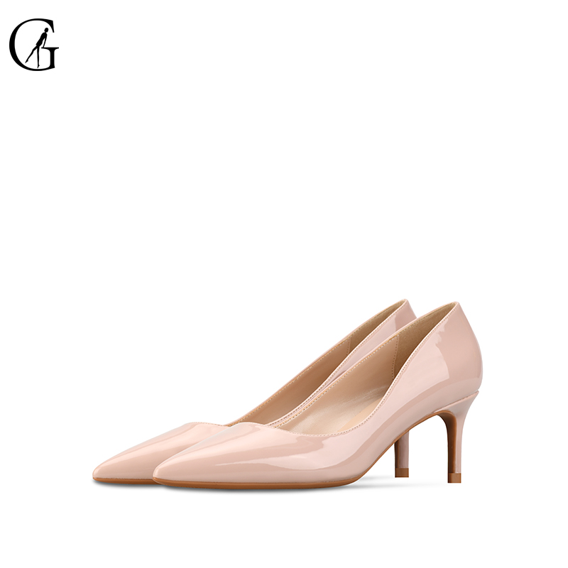 GOXEOU 2019 High Heels Shoes Women Pumps 6cm Woman Shoes Sexy Pointed Toe Wedding Party Shoes