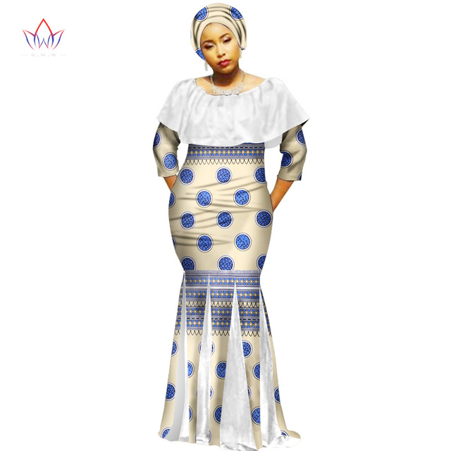 d2dca4d4560 2018 Autumn Robe Africaine Femme Dashiki Dresses Ethnic Plus Size 6XL  African Traditional Dresses Print 6xl Free Headtie WY2116