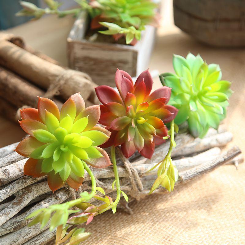 Artificial succulent Quiet night lotus plant flower home decoration wedding fake flowers green plant balcony decoration