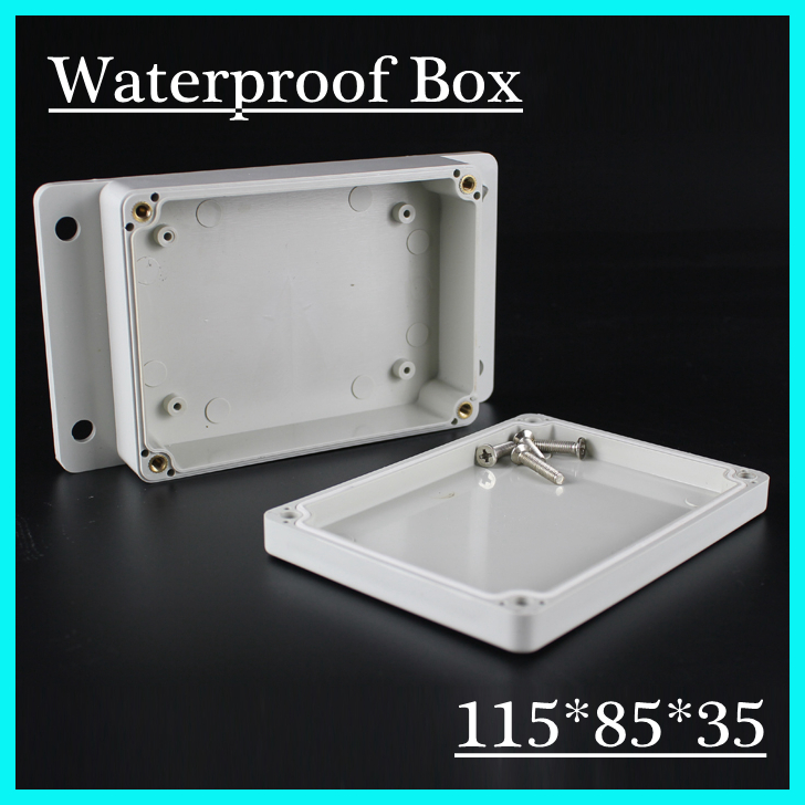 (1 piece/lot) 115*85*35mm Grey ABS Plastic IP65 Waterproof Enclosure PVC Junction Box Electronic Project Instrument Case 1 piece lot 320x240x110mm grey abs plastic ip65 waterproof enclosure pvc junction box electronic project instrument case