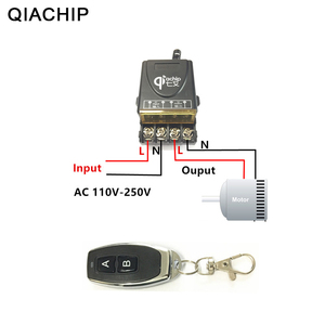 Image 1 - QIACHIP 433 433mhz のユニバーサルワイヤレスリモートコントロールスイッチ AC 110V 220V 30A リレー 1CH 受信機と RF 433 433mhz のリモートコントローラ