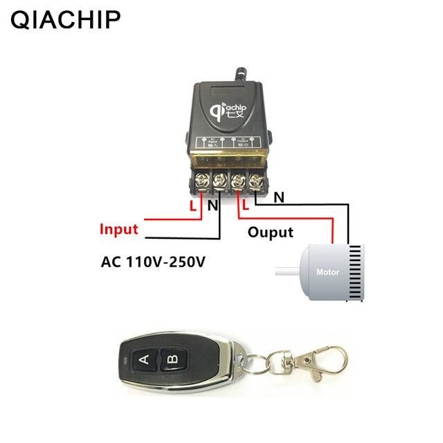 QIACHIP 433 433mhz のユニバーサルワイヤレスリモートコントロールスイッチ AC 110V 220V 30A リレー 1CH 受信機と RF 433 433mhz のリモートコントローラ