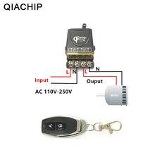 QIACHIP 433 Mhz uniwersalny bezprzewodowy pilot przełącznik AC 110V 220V 30A przekaźnik 1CH odbiornik i RF 433 Mhz pilot