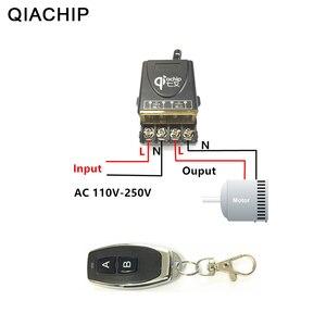 Image 1 - QIACHIP 433 Mhz универсальный Беспроводной удаленного Управление переключатель AC 110 V 220 V 30A реле 1CH приемник и РФ 433 mhz дистанционного Управление;
