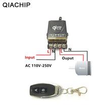 Qiachip 433 Mhz Telecomando Universale Senza Fili Interruttore di Controllo Ac 110V 220V 30A Relè 1CH Ricevitore E Rf 433 mhz Remote Controller