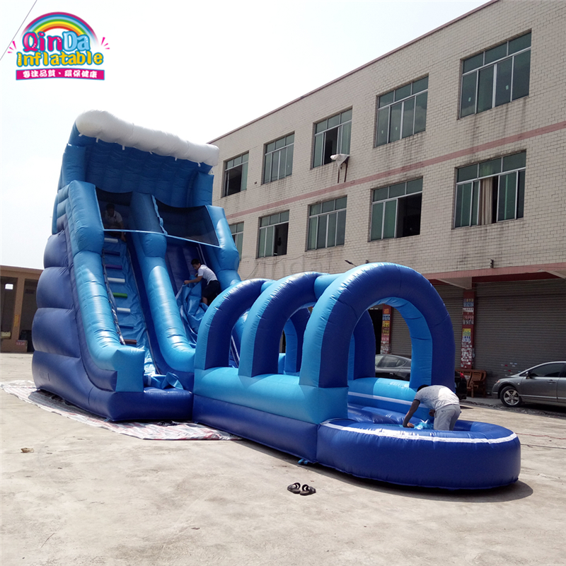 Cheap price bouncy inflatable fun water slide, backyard water slip and slide rentals inflatable inflatable wet bouncy slide with water pool for kids