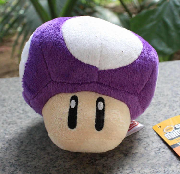 12cm Super Mario Plush Toys 7 Colors Mario Mushrooms Plush Dolls