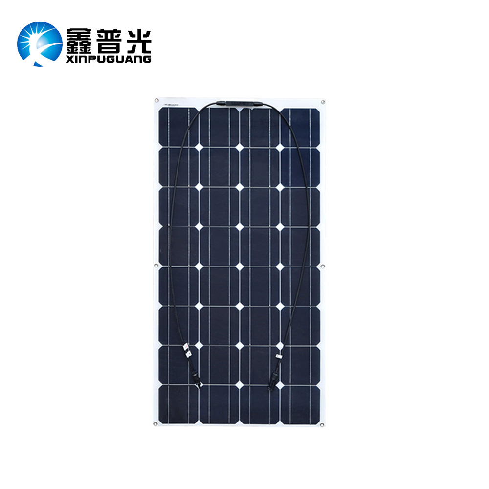 16V 100W Flexible Solar Panel efficient Mono Cell Module kit Yacht RV Boat 12V Battery Car Charger china manufacturer