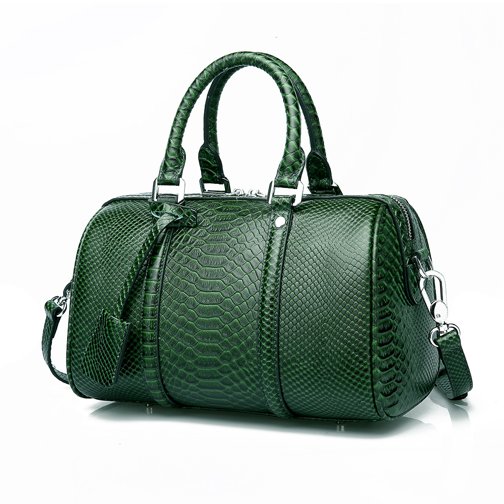все цены на Leather handbags tide European and American fashion first layer leather bag Boston shoulder portable ladies bag