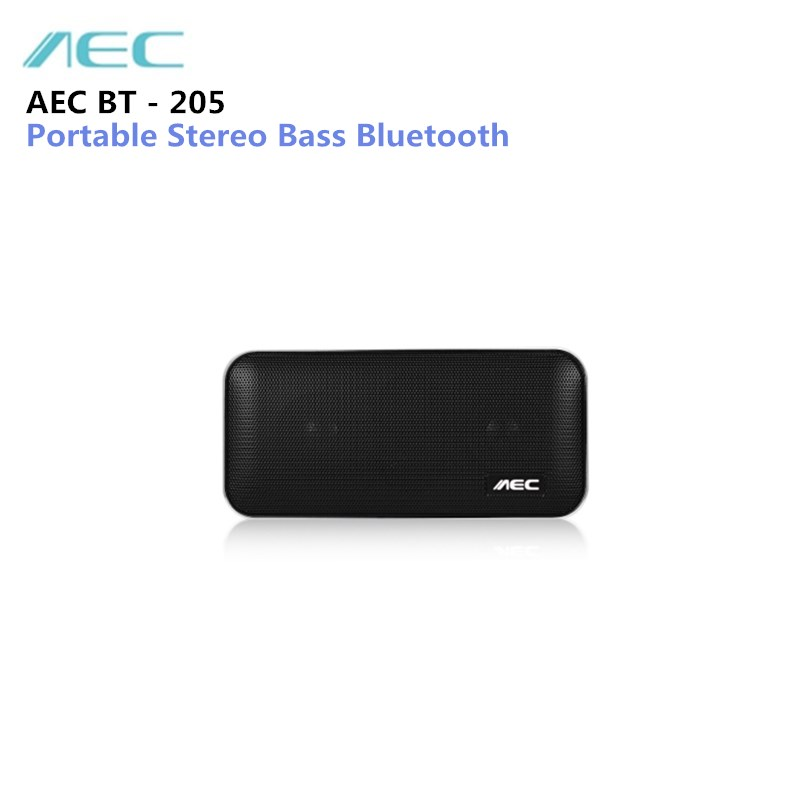 New AEC BT-205 Bluetooth Portable Speaker Mini Wireless Stereo Music Loudspeaker with Built- in Microphone Support TF Card havit® hv m6 wireless bluetooth 4 0 nfc sports speaker with built in microphone support tf card 3 5mm audio external connect up to 6 hours music playing easter day special page 7