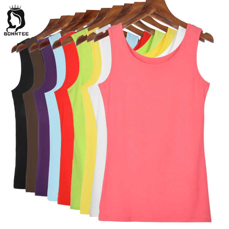 3a8ca396f4bef3 Women Casual Slim Tanks Female Candy Color Tank Tops Womens Solid Soft Summer  Top Females Breathable