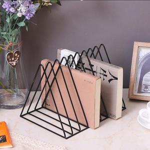Высококачественная железная стойка для книг, аксессуары для украшения дома, стойка для хранения файлов, подставка для хранения файлов для д...