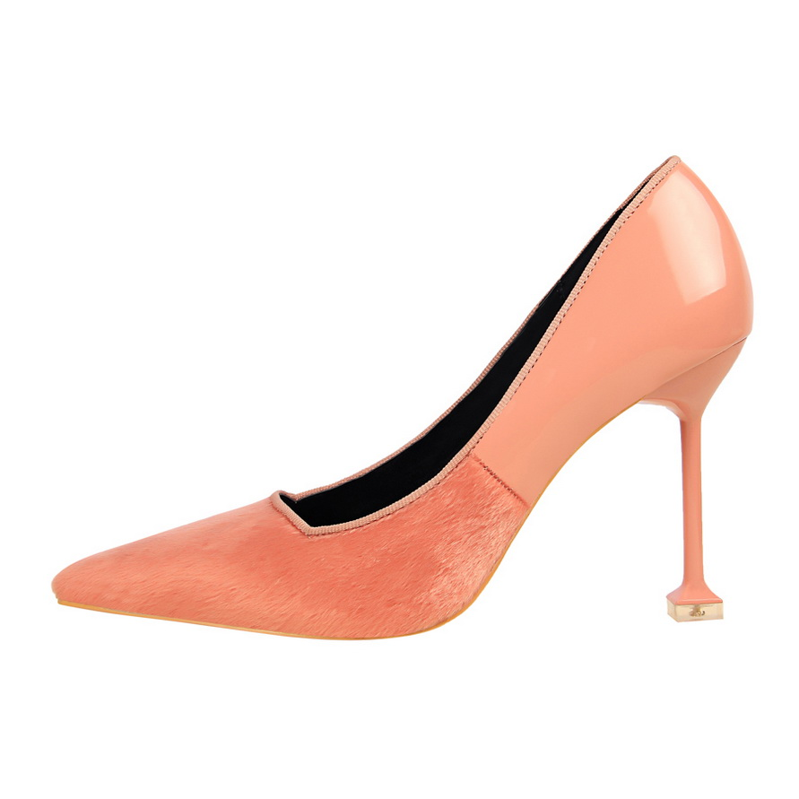 Spring Autumn Woman Pumps High Heel Fashion Pointed Toe Party Wedding Shoes Black Pink Thin Heels Shoes DS A0125 in Women 39 s Pumps from Shoes