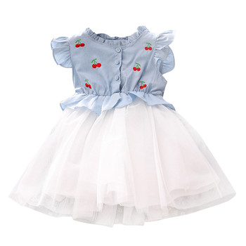 Ropa de bebé Infante ARLONEET, vestido de gasa de manga corta para niñas, vestido de fiesta de princesa de tul bonito para niñas, conjuntos de verano