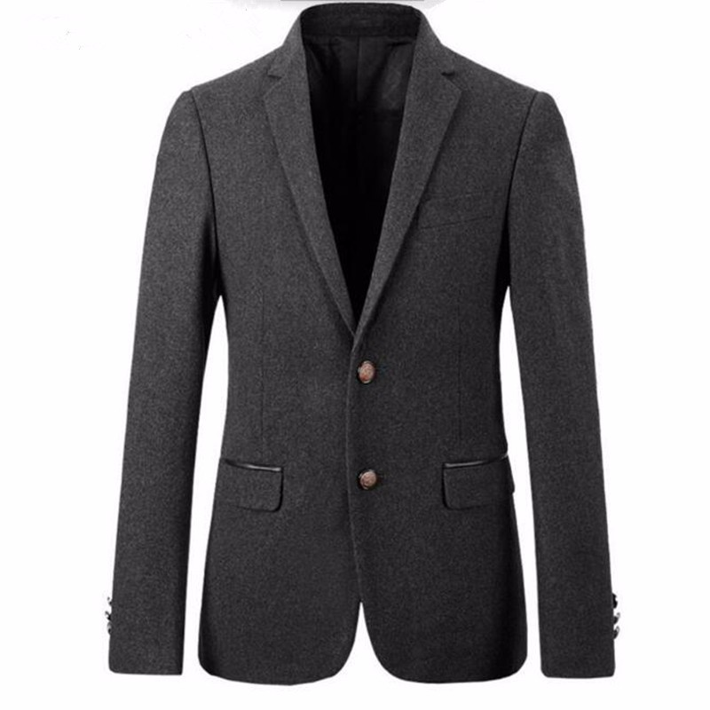 1.1Men suits jacket wool blended grey groom wedding tuxedos jacket keep warm tailor made formal business suits jacket_
