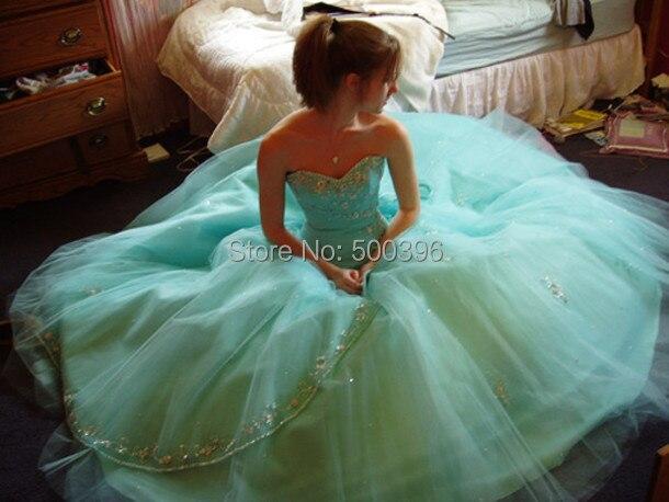 Aliexpress.com : Buy Mint Green Quinceanera Dresses Sweetheart ...