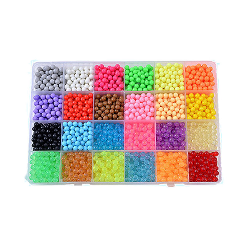 500-6000pcs Aquabeads Refill Pack in 36 HOT Colors Mixed Packing-BIG SALE