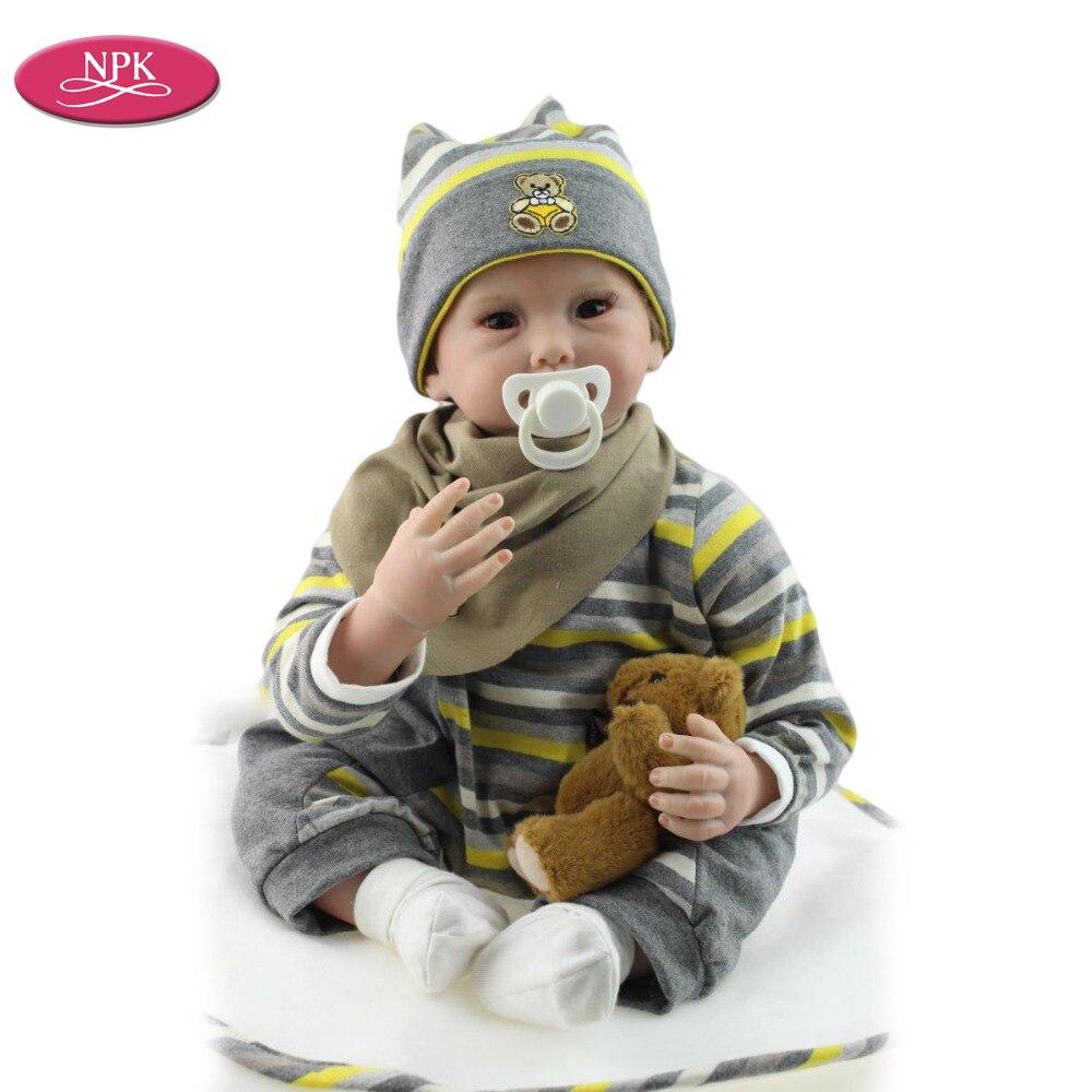 NPK Real Handmade Realistic Reborn Doll Silicone Baby Boys 55CM Lifelike Reborn Menino Bonecas Bebe Alive Newborn Toddle Toys